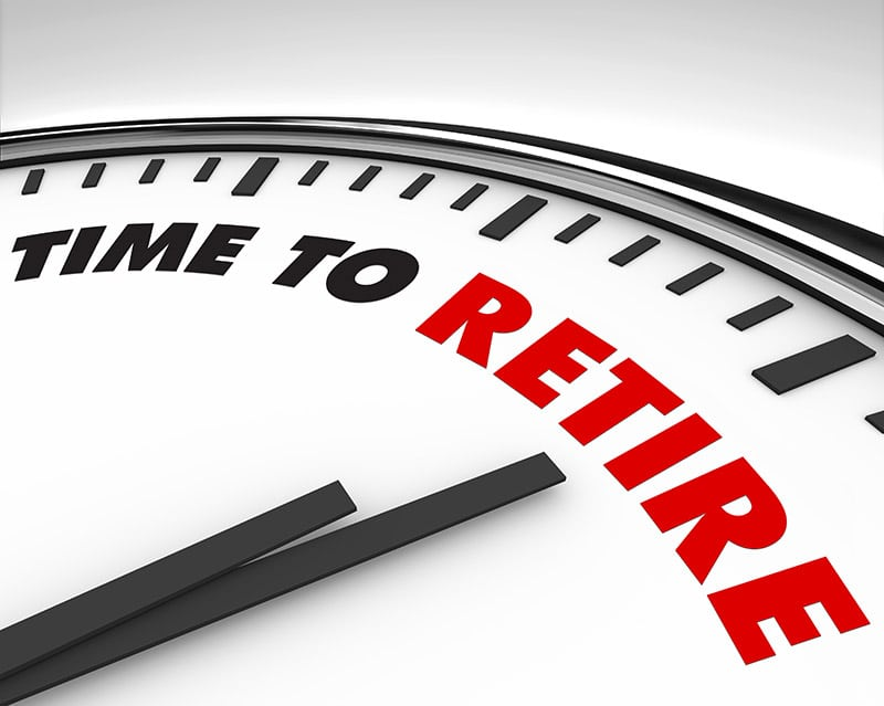 This clock shows you when it is time to retire.