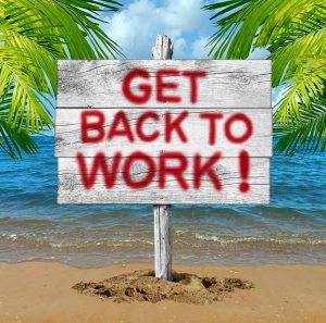 Get Back To Work Sign