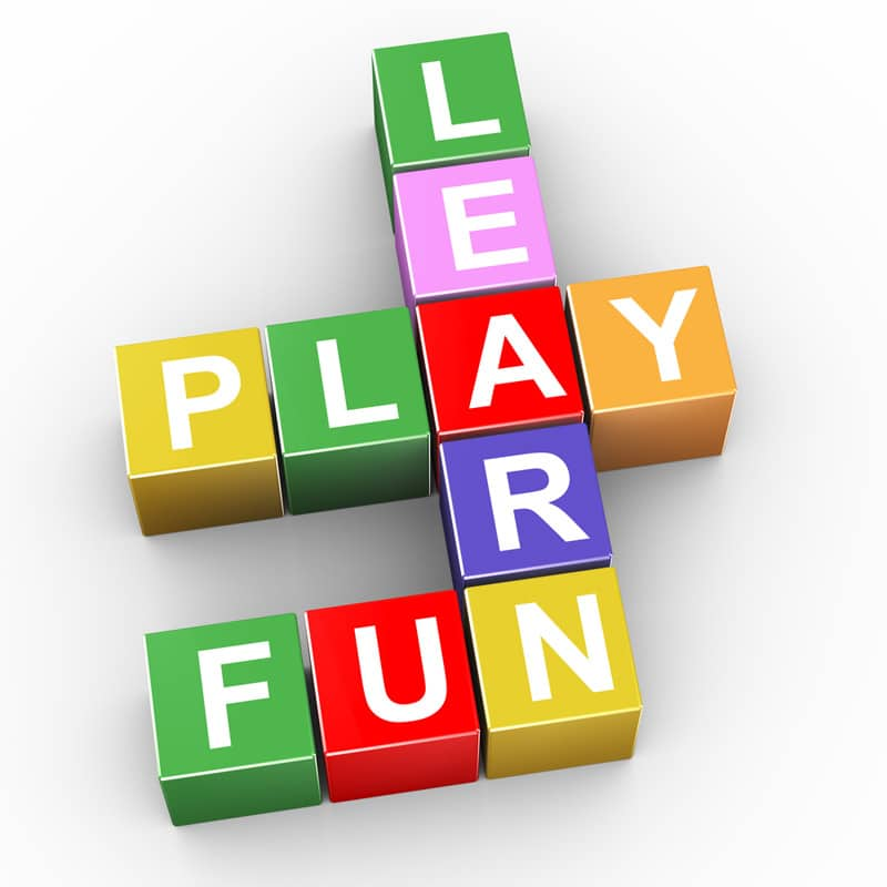 These blocks spell out learn, play, and fun which are keys to a good life. In fact, you should do what you want when you want to.