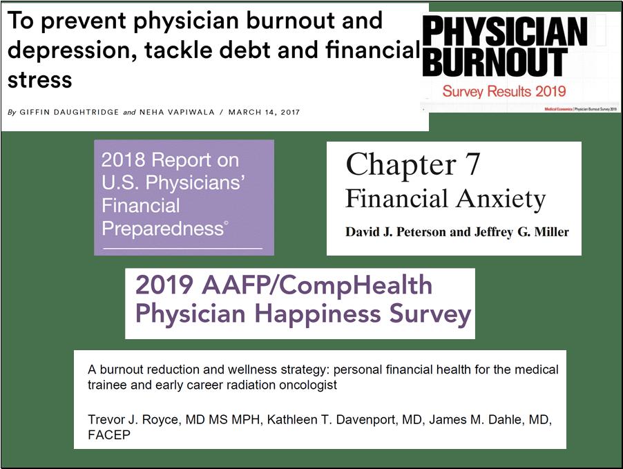 Portfolio panic adds to physician burnout.